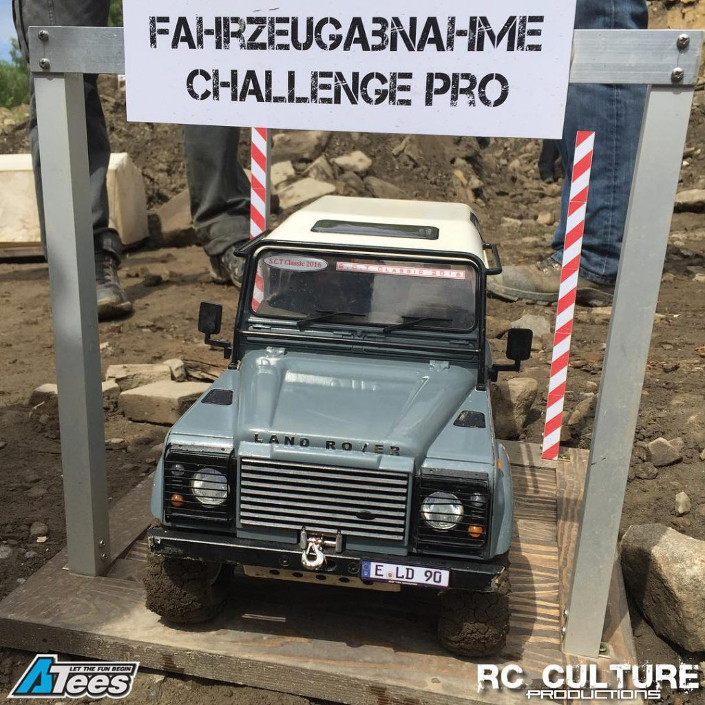 Another fine Land Rover at the entranceexit to the Challengehellip