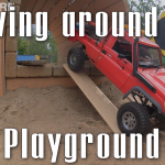 Driving at the playground